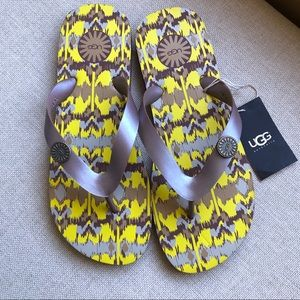 UGG Women's W IKAT Flare Flip Flop Sandals 6 NWT